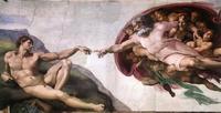 God creating Adam in the Sistine Chapel